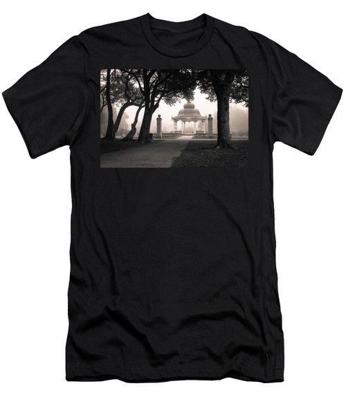 Foggy Tower Grove Men's T-Shirt (Slim Fit) by Scott Rackers