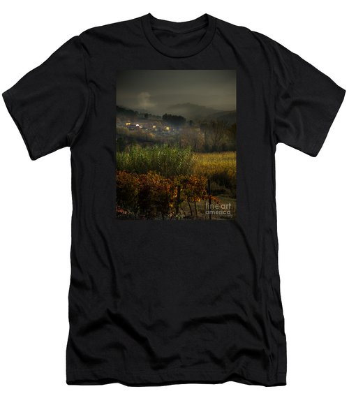 Foggy Tuscan Valley  Men's T-Shirt (Athletic Fit)