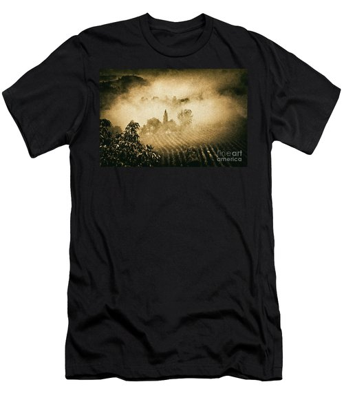 Men's T-Shirt (Slim Fit) featuring the photograph Foggy Tuscany by Silvia Ganora