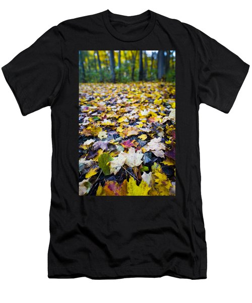 Men's T-Shirt (Slim Fit) featuring the photograph Foliage by Sebastian Musial