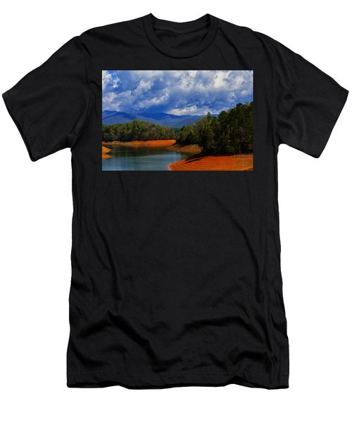 Fontana Lake Storm Men's T-Shirt (Slim Fit) by Chris Flees