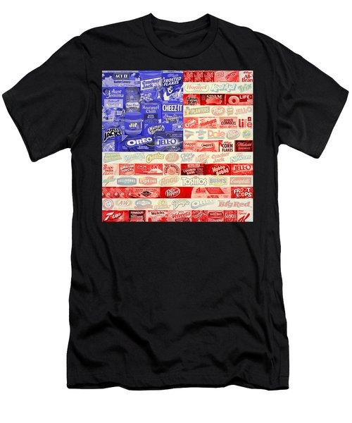 Food Advertising Flag Men's T-Shirt (Athletic Fit)