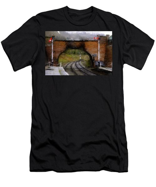 Foot Bridge. Men's T-Shirt (Athletic Fit)