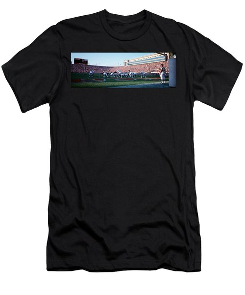 Football Game, Soldier Field, Chicago Men's T-Shirt (Athletic Fit)