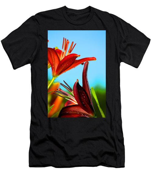 For The Love Of Lillies Men's T-Shirt (Athletic Fit)