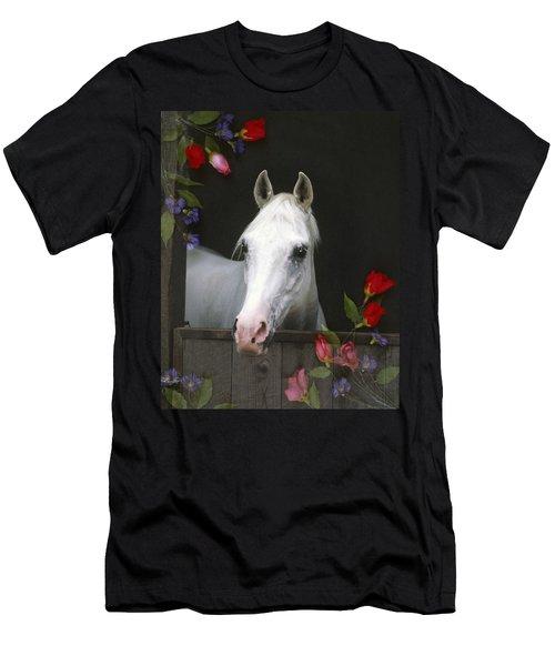 For The Roses Men's T-Shirt (Slim Fit) by Melinda Hughes-Berland