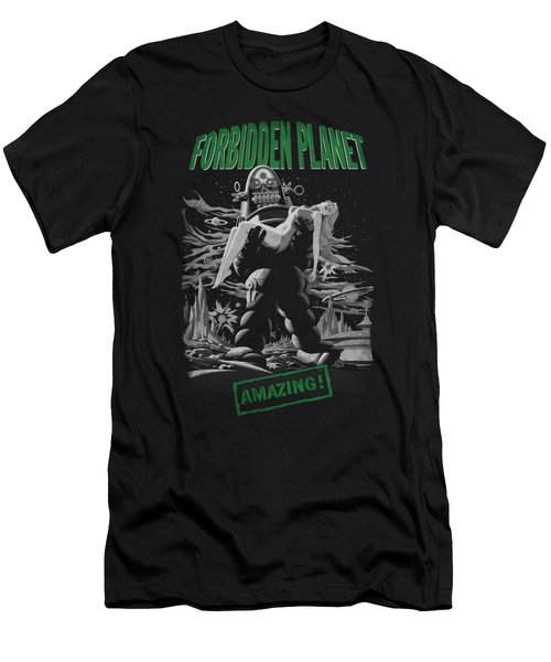 Forbidden Planet - Robot Poster Men's T-Shirt (Athletic Fit)
