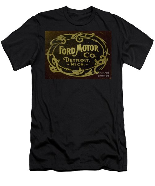Ford Motor Company Men's T-Shirt (Slim Fit) by David Millenheft
