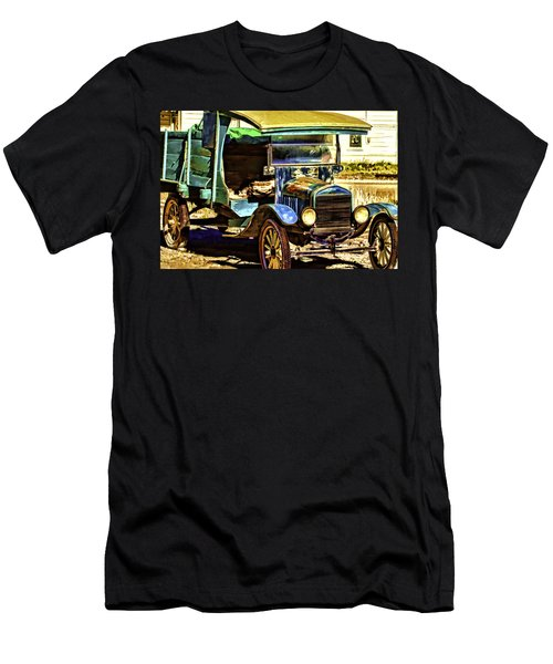 Men's T-Shirt (Slim Fit) featuring the painting Ford by Muhie Kanawati