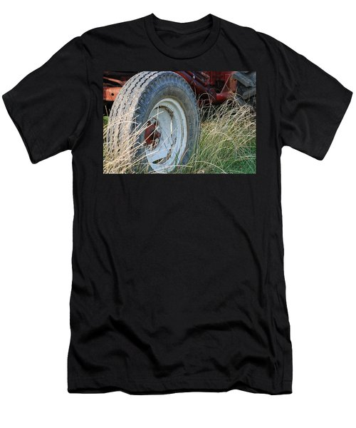 Men's T-Shirt (Slim Fit) featuring the photograph Ford Tractor Tire by Jennifer Ancker