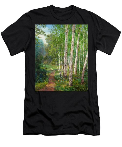 Russian Forest Footpath Men's T-Shirt (Athletic Fit)