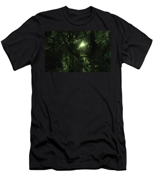 Men's T-Shirt (Slim Fit) featuring the digital art Forest Light by GJ Blackman