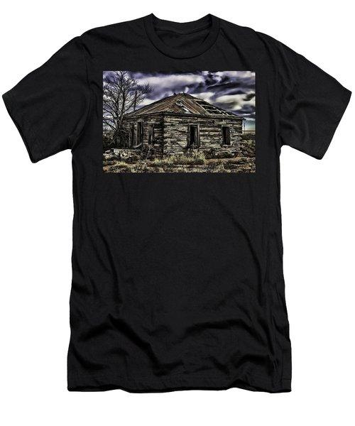 Men's T-Shirt (Slim Fit) featuring the painting Forgotten by Muhie Kanawati