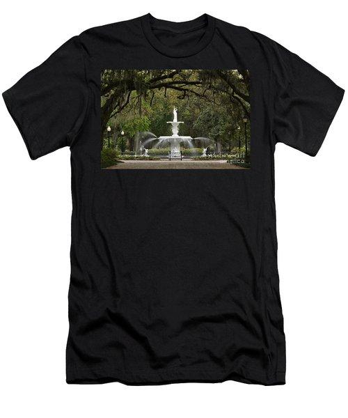 Forsyth Park Fountain - D002615 Men's T-Shirt (Athletic Fit)