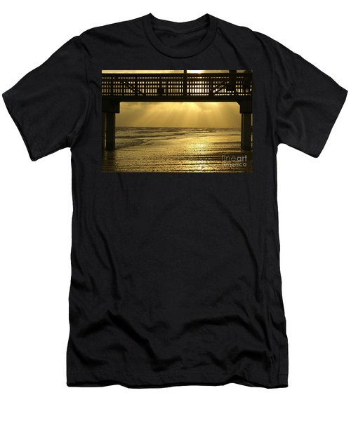 Fort Myers Golden Sunset Men's T-Shirt (Slim Fit) by Jennifer White