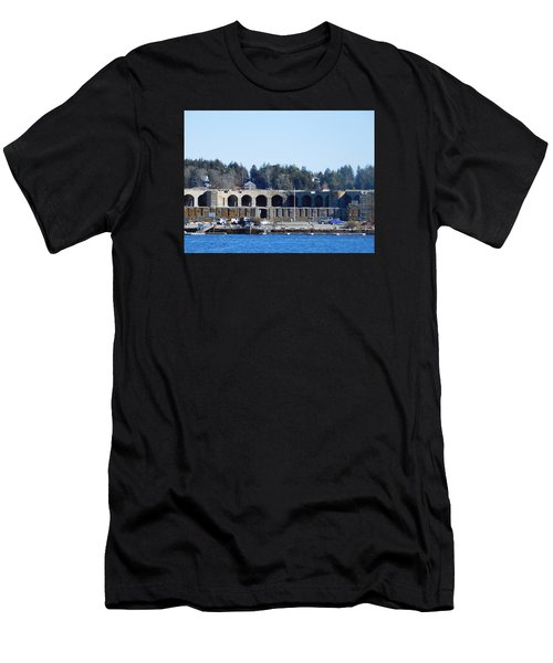 Fort Popham In Maine Men's T-Shirt (Athletic Fit)