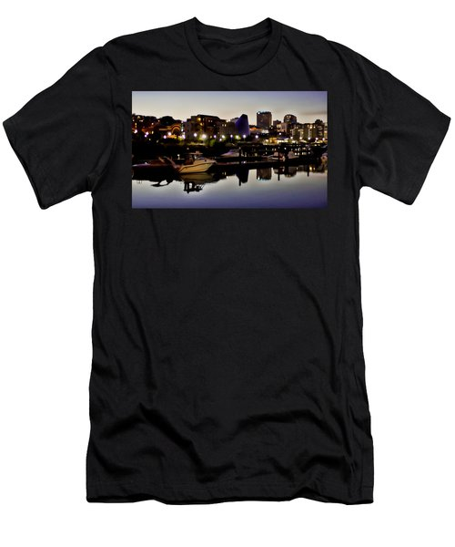 Foss Waterway At Night Men's T-Shirt (Athletic Fit)
