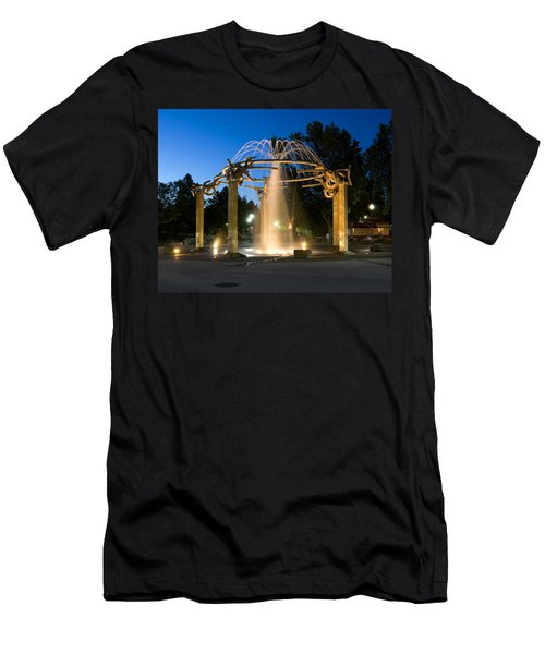 Fountain In Riverfront Park Men's T-Shirt (Athletic Fit)