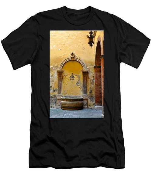 Fountain In Sienna Men's T-Shirt (Athletic Fit)