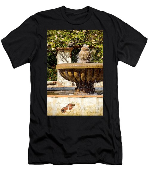 Men's T-Shirt (Slim Fit) featuring the photograph Fountain Of Beauty by Peggy Hughes