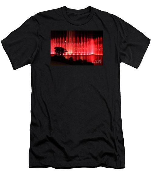 Men's T-Shirt (Slim Fit) featuring the photograph Fountain Of Red by Geraldine DeBoer