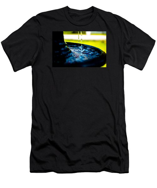 Men's T-Shirt (Slim Fit) featuring the photograph Fountain Of Time by Mez