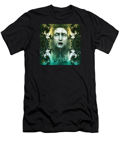 Men's T-Shirt (Slim Fit) featuring the digital art Fountainhead Dream by Rosa Cobos
