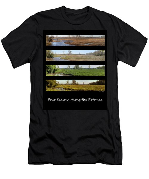 Four Seasons Along The Potomac Men's T-Shirt (Athletic Fit)