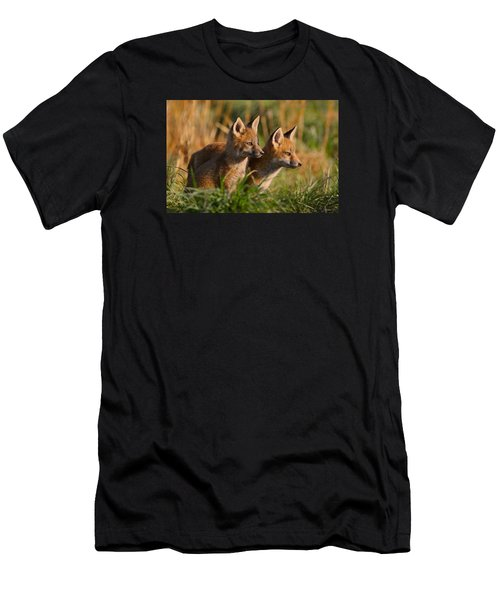 Fox Cubs At Sunrise Men's T-Shirt (Athletic Fit)