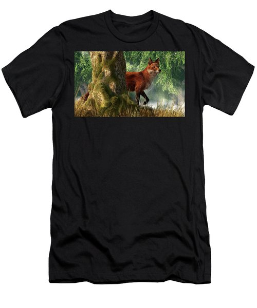 Fox In A Forest Men's T-Shirt (Athletic Fit)