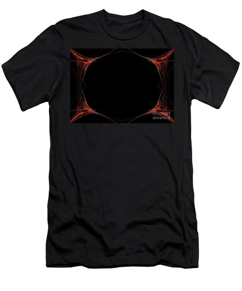 Men's T-Shirt (Slim Fit) featuring the digital art Fractal Red Frame by Henrik Lehnerer
