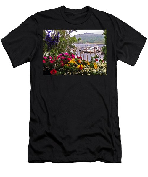 Fragrant Marina Men's T-Shirt (Slim Fit) by Lydia Holly