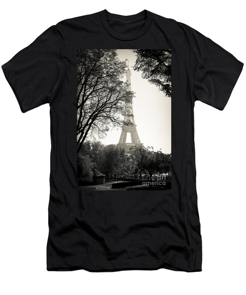 The Eiffel Tower Paris France Men's T-Shirt (Athletic Fit)