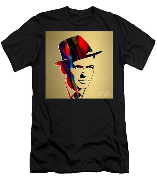 Frank Sinatra Art Men's T-Shirt (Slim Fit) by Marvin Blaine
