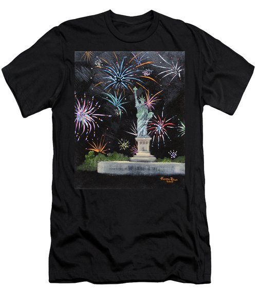 Freedom Men's T-Shirt (Slim Fit) by Judith Rhue