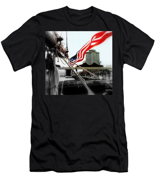 Freedom Sails Men's T-Shirt (Slim Fit) by Michael Hoard