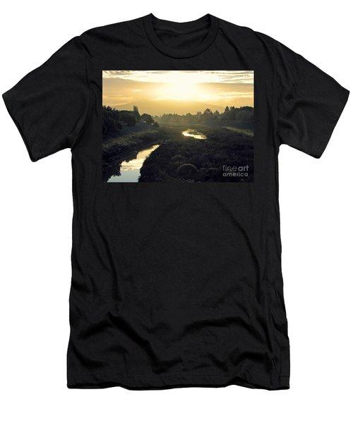 Men's T-Shirt (Slim Fit) featuring the photograph Fremont Dawn by Ellen Cotton