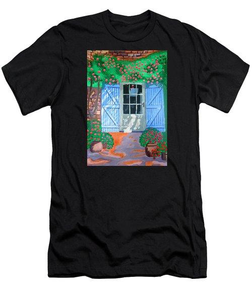 French Farm Yard Men's T-Shirt (Athletic Fit)