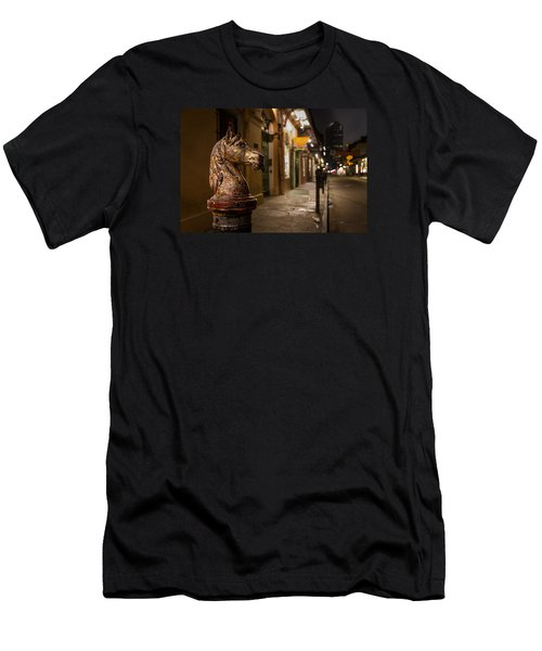 Men's T-Shirt (Slim Fit) featuring the photograph French Quarter Hitching Post by Tim Stanley