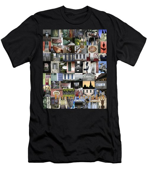 French Quarter Poster Men's T-Shirt (Athletic Fit)