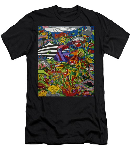 Frenzy Men's T-Shirt (Slim Fit) by Rojax Art