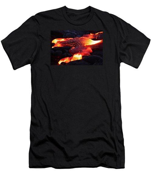 Fresh Lava Flow Men's T-Shirt (Slim Fit) by Venetia Featherstone-Witty