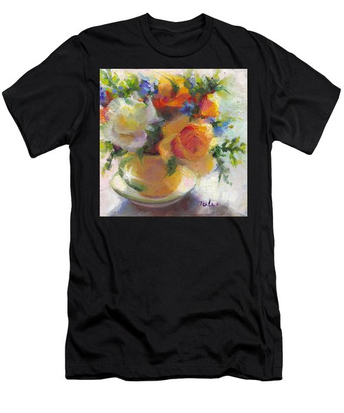 Fresh - Roses In Teacup Men's T-Shirt (Athletic Fit)