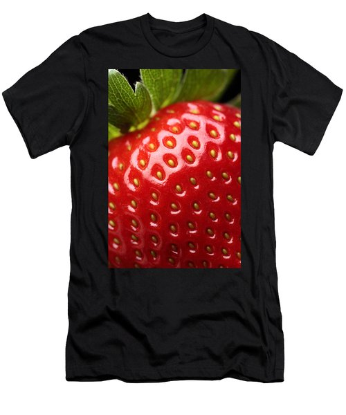 Fresh Strawberry Close-up Men's T-Shirt (Athletic Fit)