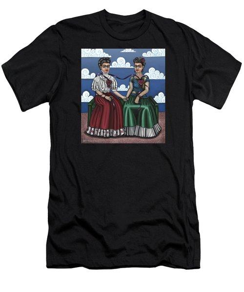 Frida Beside Myself Men's T-Shirt (Athletic Fit)