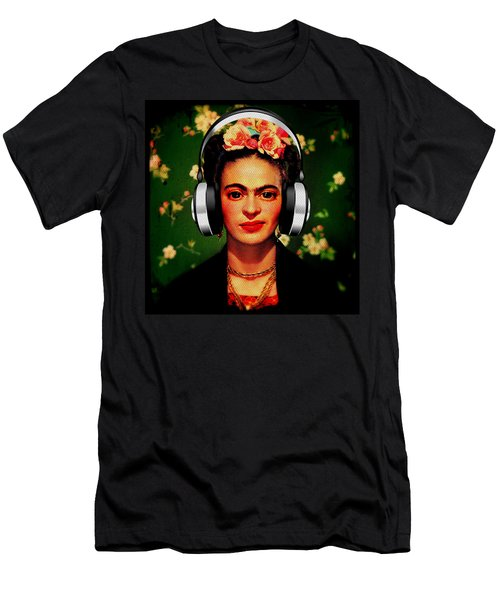Men's T-Shirt (Athletic Fit) featuring the mixed media Frida Jams by Michelle Dallocchio