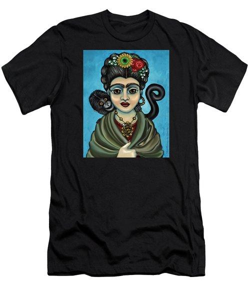 Frida's Monkey Men's T-Shirt (Athletic Fit)