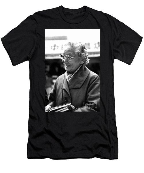 Men's T-Shirt (Slim Fit) featuring the photograph Friendly Stranger by Ellen Cotton
