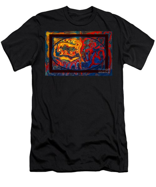 Friendship And Love Abstract Healing Art Men's T-Shirt (Athletic Fit)