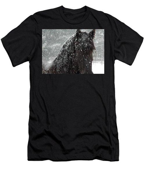 Friesian Snow Men's T-Shirt (Athletic Fit)